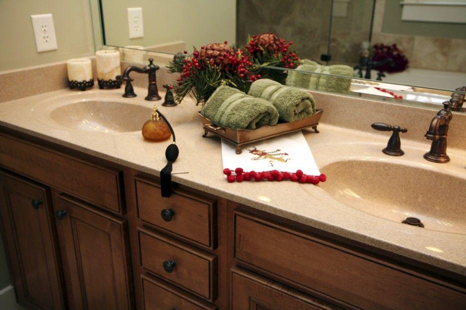 varnished teak wood bathroom vanity cabinet with light brown marble rh pinterest co uk