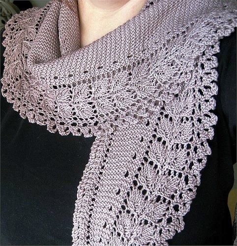 crafts for spring, lace scarf: free knitting patterns | make ...