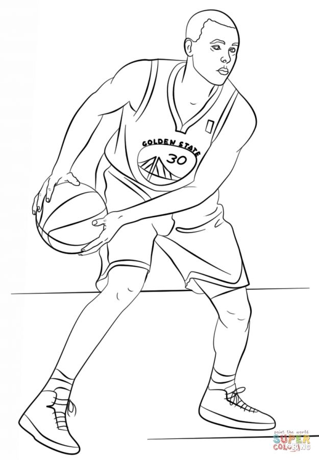Stephen Curry NBA coloring pages | Sports Coloring Pages | Pinterest