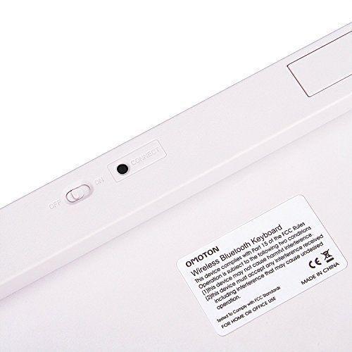 OMOTON Ultra-Slim Bluetooth Keyboard Compatible with iPad 10.2 (8th/ 7