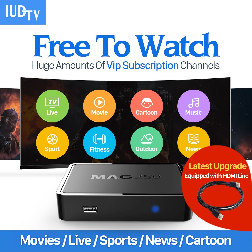 Linux IPTV Boîte Mag 250 Ip tv Set Top Box IUDTV Code Europe