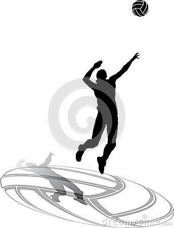 Silueta de mujer jugando voleibol. | Lovevoley | Pinterest | Silueta ...
