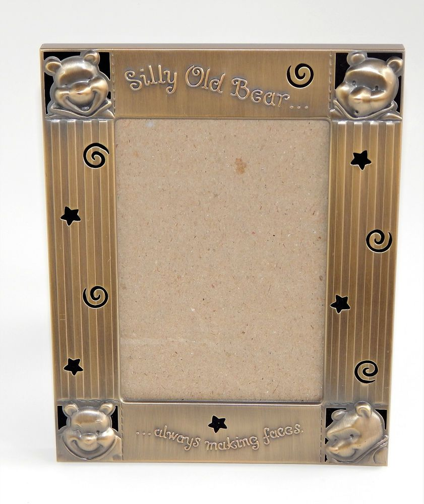 Disney winnie pooh picture frame silly old bear metal easel disney winnie pooh picture frame silly old bear metal easel tabletop 6x4 35x5 jeuxipadfo Image collections