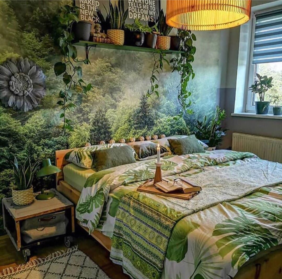 """☽ Tribal Hippies ☾ on Instagram: """"Do you want to have a cozy sleep in here? 💚💛 • • • • •  #boho #bohostyle #boholife #boholifestyle #bohome #bohohome #bohodecor #bohovibes…"""""""