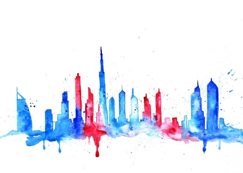 Dubai | Dubai, Abstract styles and Watercolor
