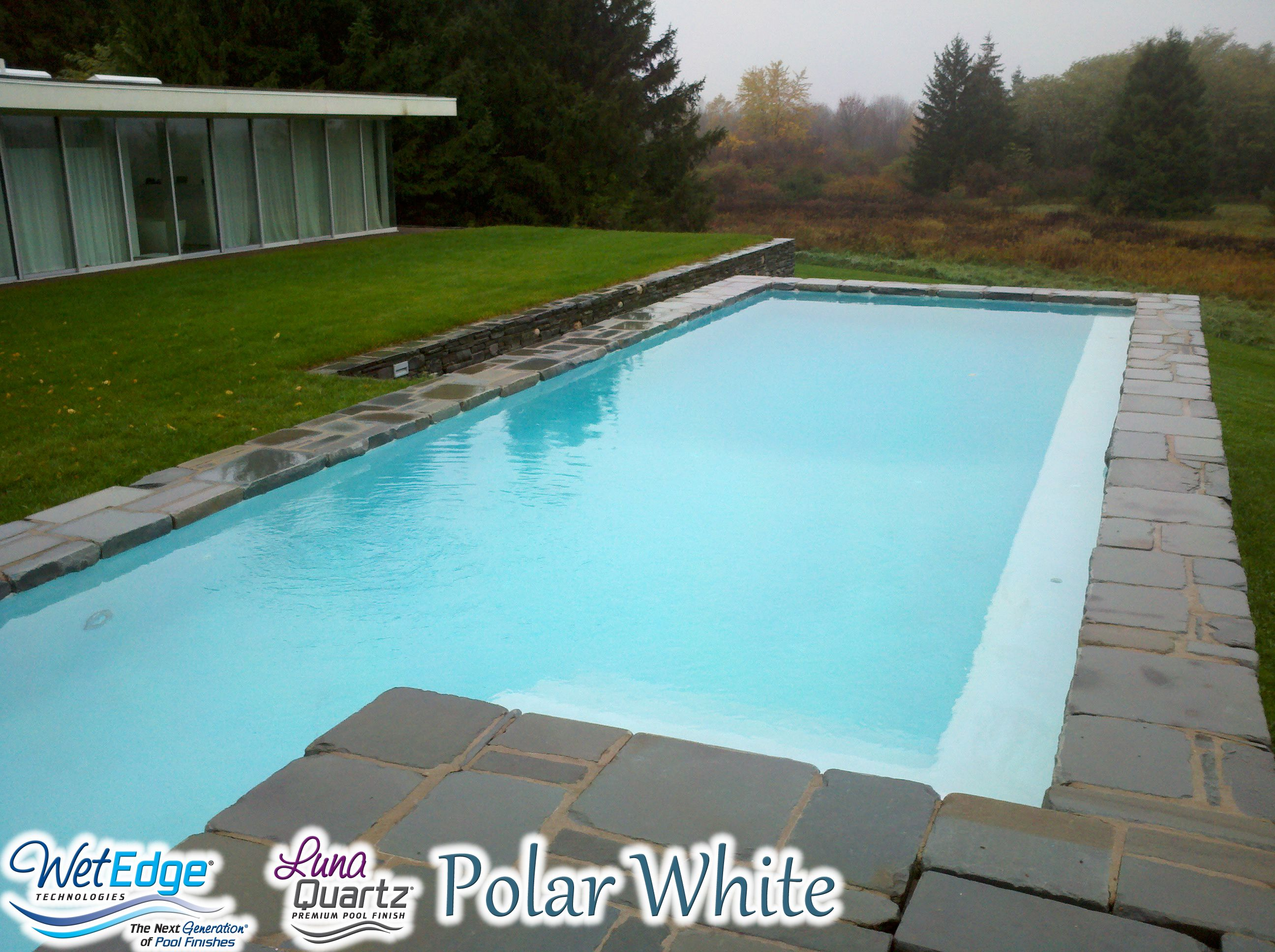 Luna Quartz Polar White Cool Pools Pool Plaster Pool Picture