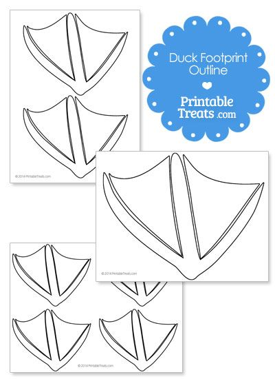 printable duck footprint template rubber duck baby shower in 2018