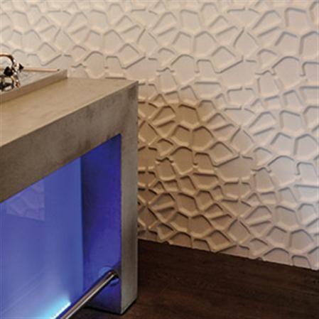 Set de 12 paneles con relieve para pared Gaps, 3 m² Decoració de