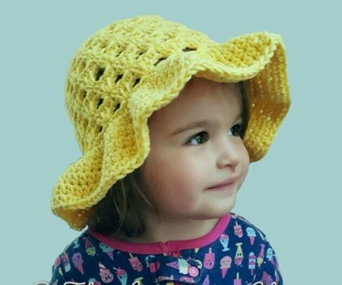 Lazy Daisy Floppy Sun Hat Infant Toddler Child Free Crochet