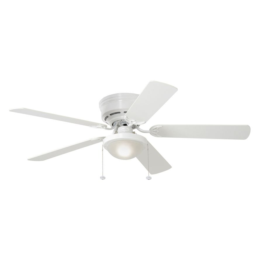 Harbor Breeze Armitage 52 In White Flush Mount Indoor Residential Ceiling Fan With Light Kit