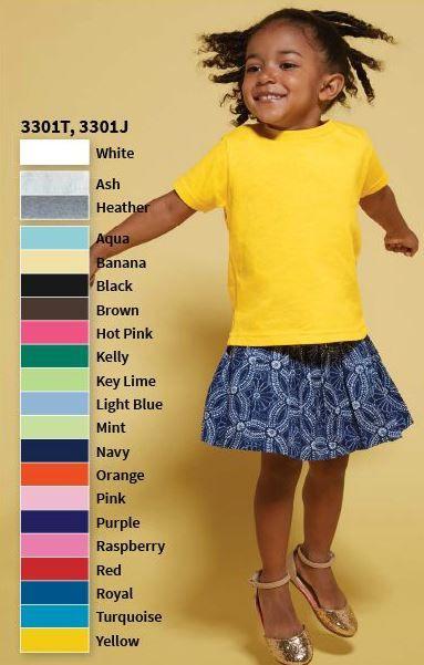 a59372d30 Rabbit Skins RS3301 5.5 oz Toddler Jersey Short Sleeve T Shirt ...