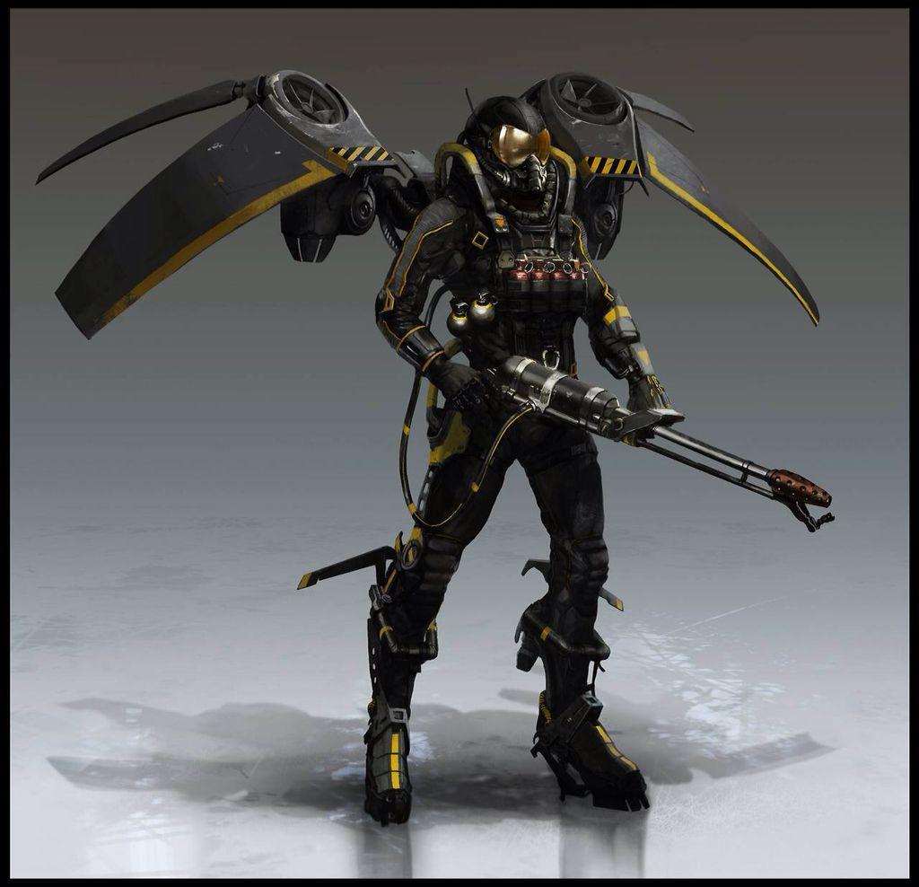 Batman Firefly Concept Art