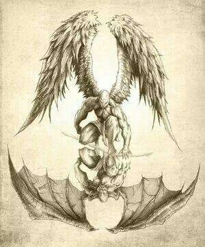 Good Vs Evil Drawing Ideas : drawing, ideas, Demon, Tattoo,, Sleeve, Angels, Demons