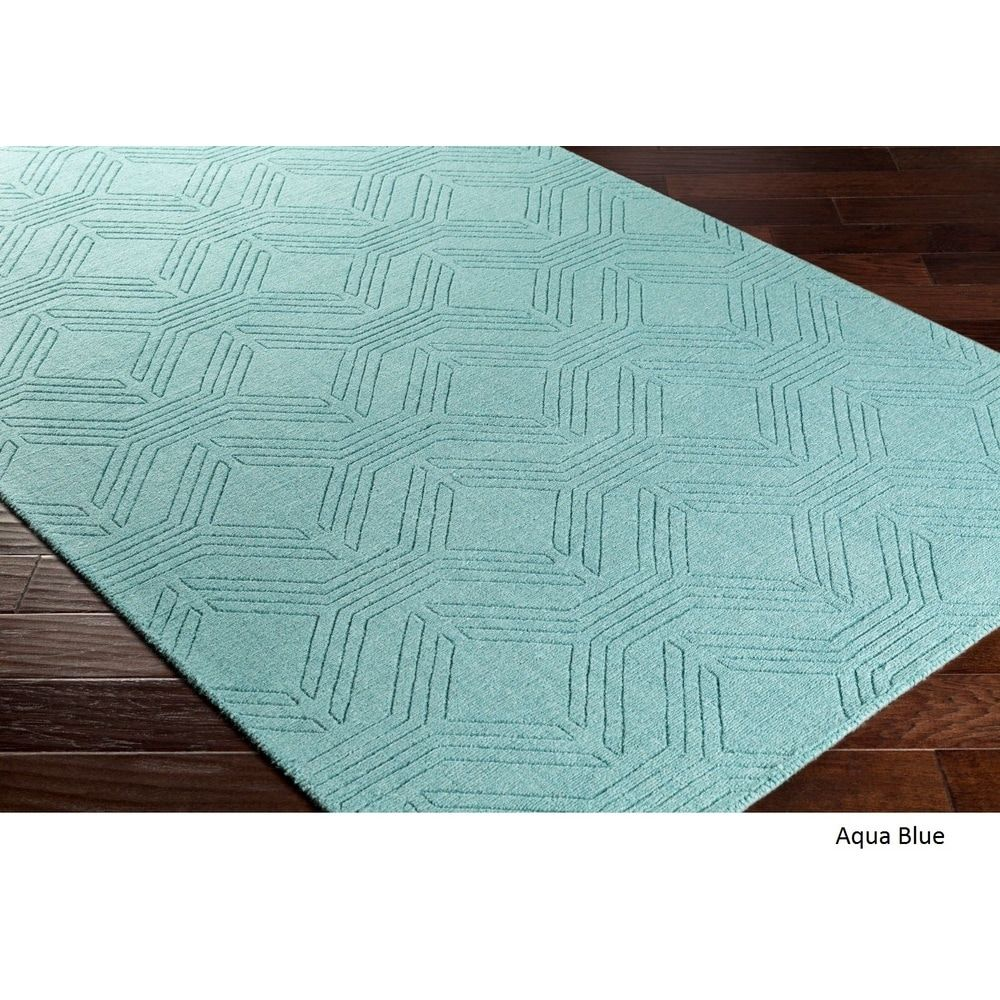 69fc2102085 Handmade Oaks Wool Area Rug (8  x 10 ) - Free Shipping Today - Overstock -  18985374 - Aqua Blue