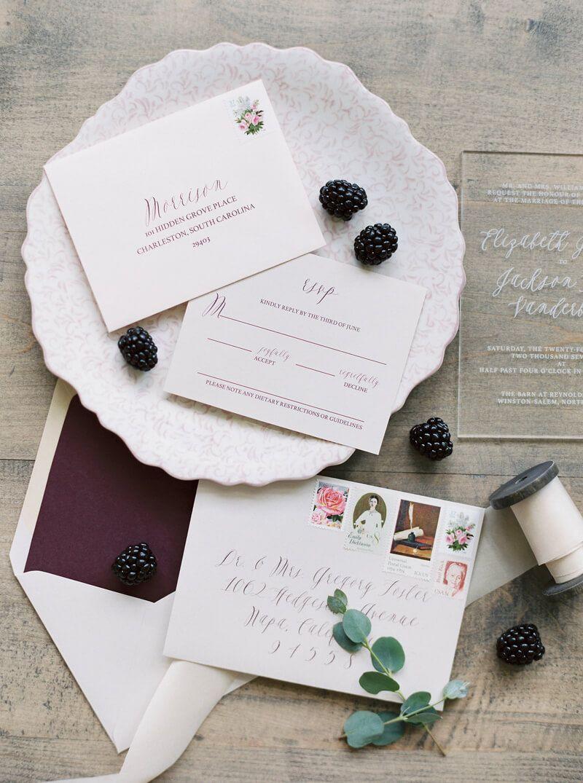 Jan 10 Blackberry Wedding Inspiration - Winston-Salem, NC   Wedding