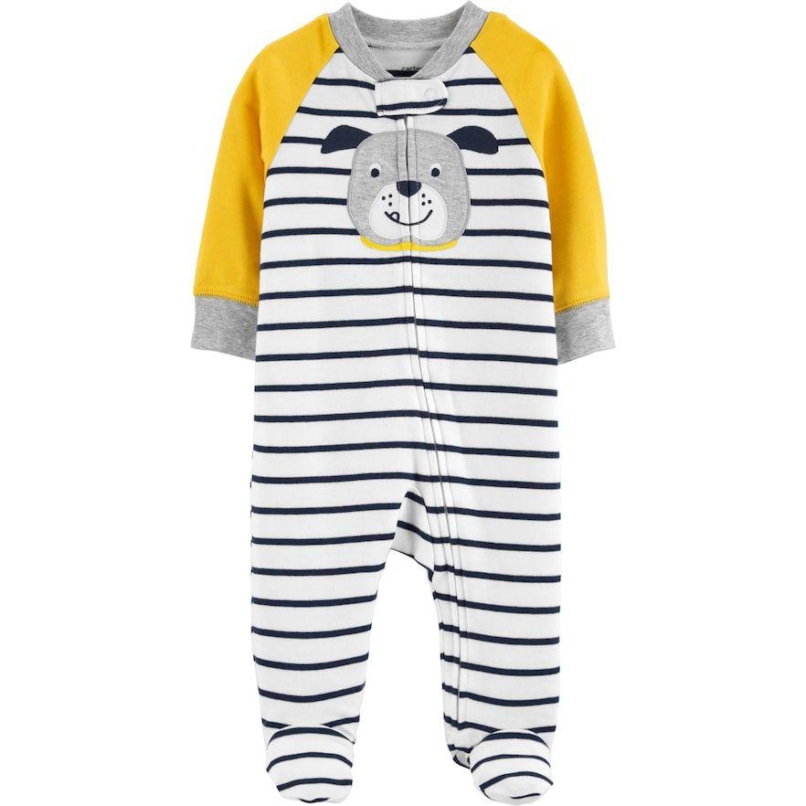 964936506 Baby Boy Carter s Bulldog Striped Sleep   Play