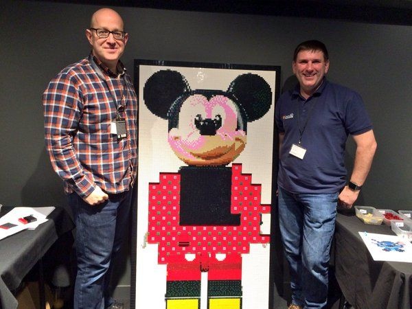 Building a Mickey Mural with the UK's only LEGO Master Builder, Duncan Titmarsh!