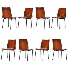 8x Friso Kramer Euroika Chairs for Auping 1963