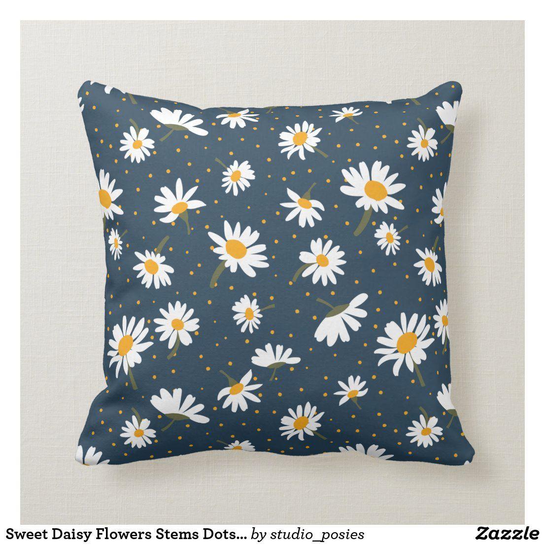 daisy home decor decorative pillow
