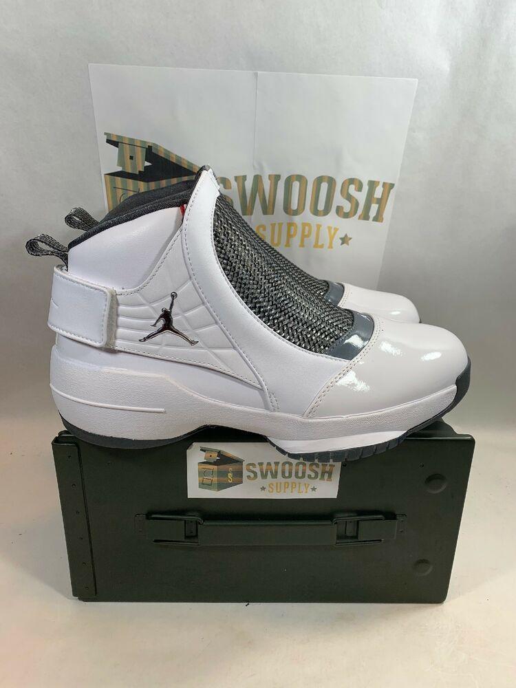 fda86cfea158 Nike Air Jordan Retro XIX 19 FLINT Grey Chrome White AQ9213-100 Sz 10.5 New   Jordan  AthleticSneakers