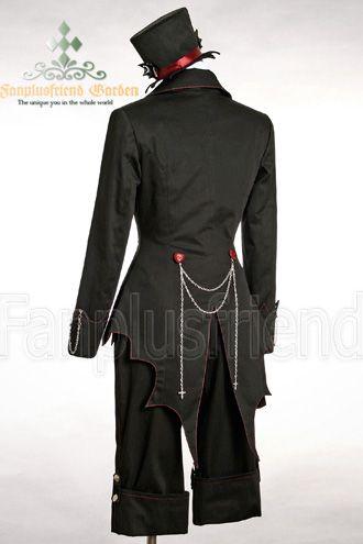 Gothic Punk Dandy Ouji Bat Coattail Jacket