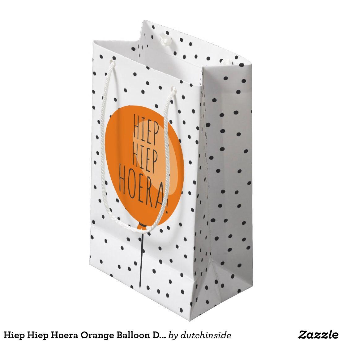 Hiep Hiep Hoera Orange Balloon Dutch Birthday Small Gift