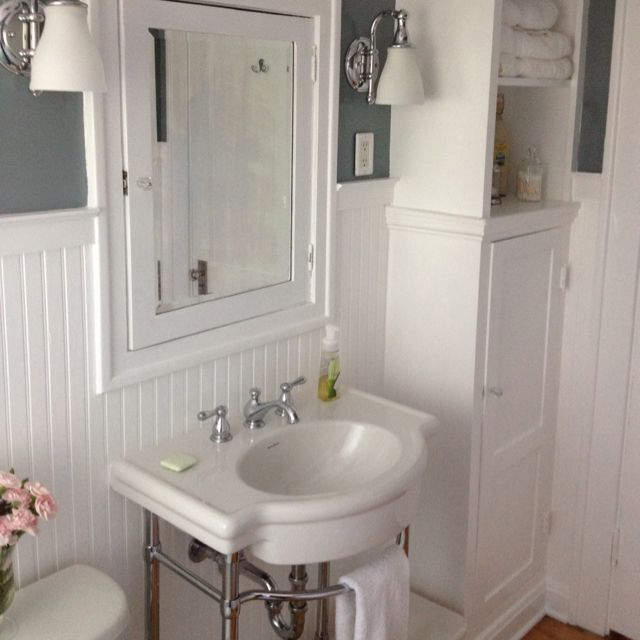 Bathroom remodel bathroom craftsman bathroom bathroom - Bathroom remodel ideas with wainscoting ...