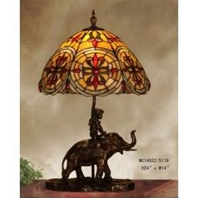 Baroque Tiffany Style Table Lamp Elephant Base Tiffany Style Table Lamps Tiffany Style Lighting Victorian Lamps