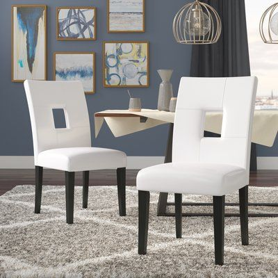 Winston Porter Zarina Keyhole Solid Wood Dining Chair Solid Wood