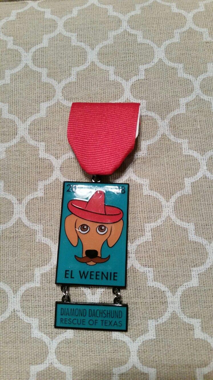 2018 Diamond Dachshund Rescue Of Tx El Weenie Fiesta Medal Dachshund Rescue Weenie Dachshund