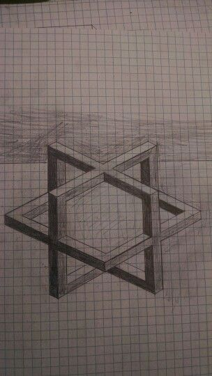 3D Cube Sketch On Graph Paper Surprisingly Hard To Draw The Arts