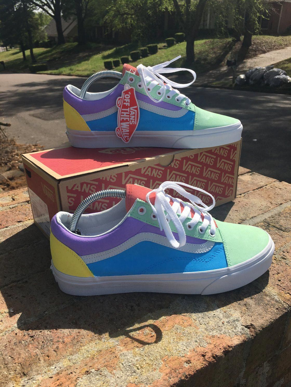 Custom vans shoes, Shoes, Pastel shoes, Vans shoes old skool