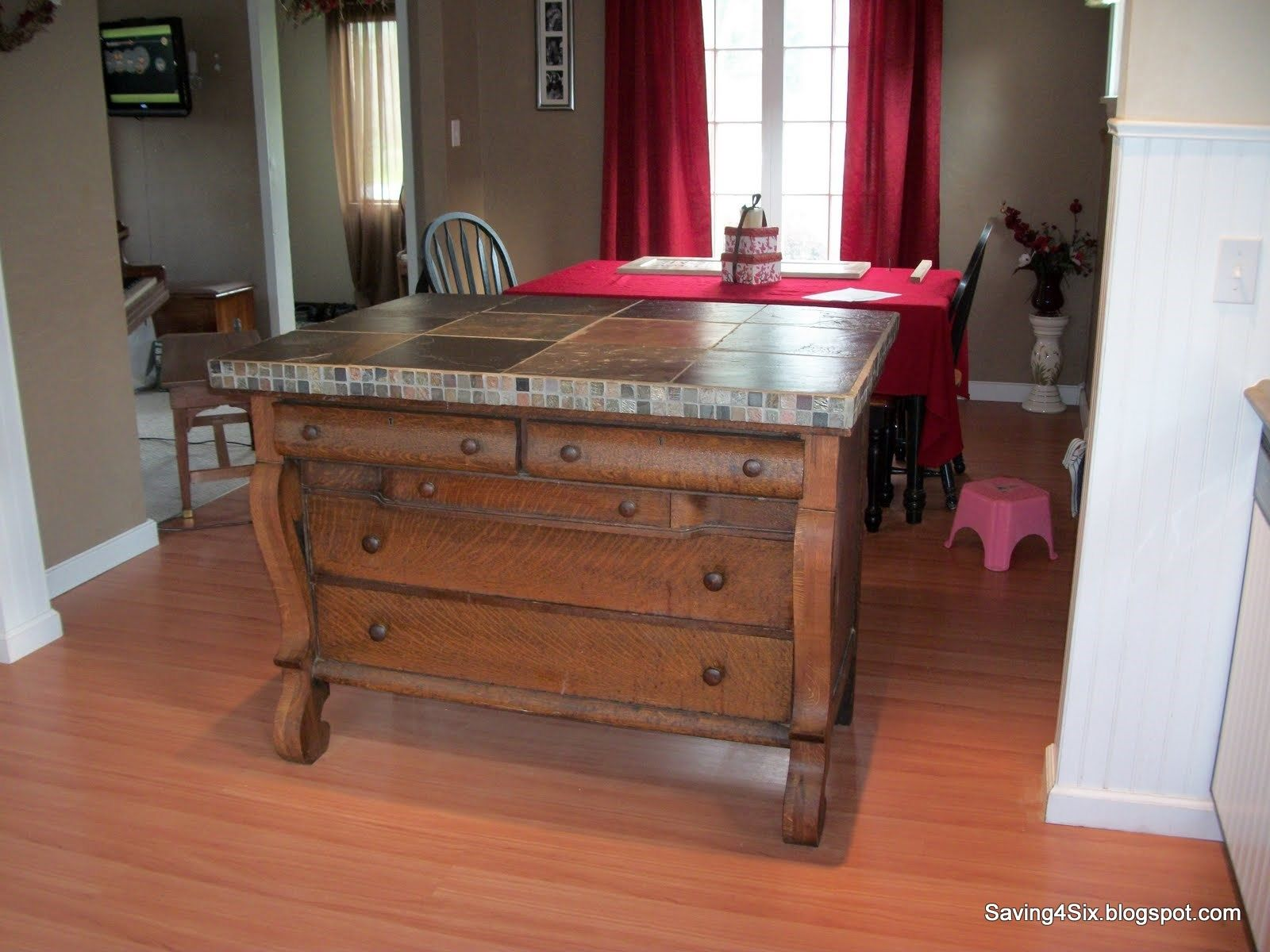 Kitchen Island Made From Side Board Or Dresser