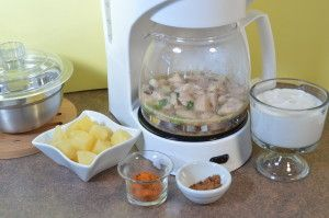 Cooking with your coffee maker.  A blog with lots of recipes for things to cook (and bake!) in your coffee maker!