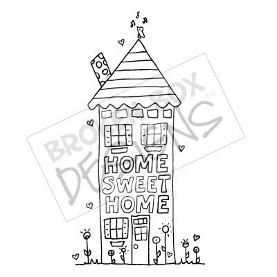 Home Sweet Home (Digi Stamp) FREE download ,much clearer