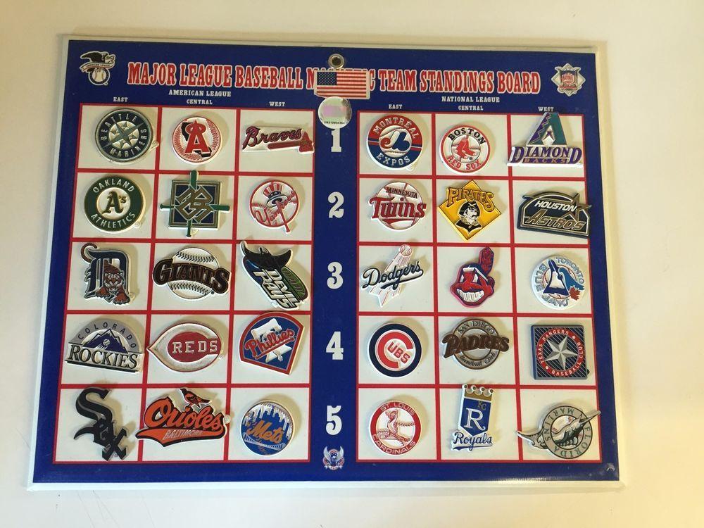 Vtg 1990's Major League Baseball Magnetic Team Standings ...