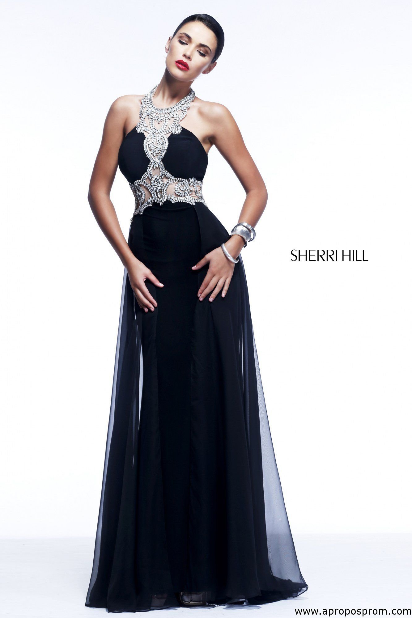 Sherri Hill 11121 Apropos Prom and Bridal Sleek black prom gown ...