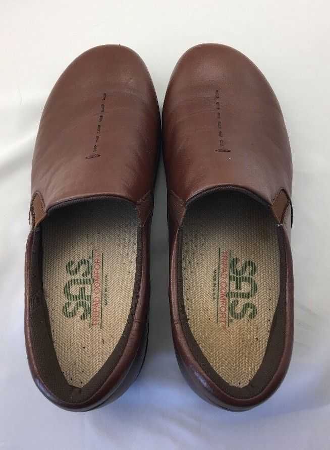 SAS Women's Tripad Comfort Shoes Slip On Closed Toe Brown Size 7 W Free Ship