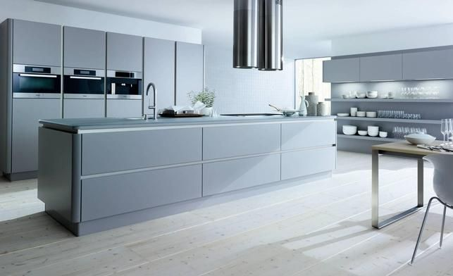 Nl502 Stone Grey Matt  Kitchens Kitchen Designs Worktops Units New Kitchen Design Grey Review