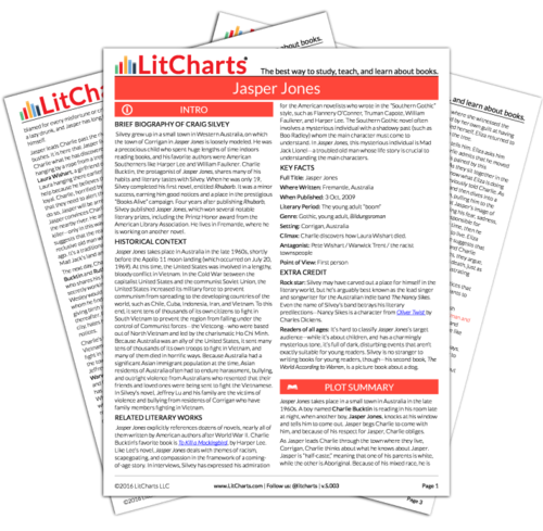 The Printed PDF Version Of The LitChart On Jasper Jones