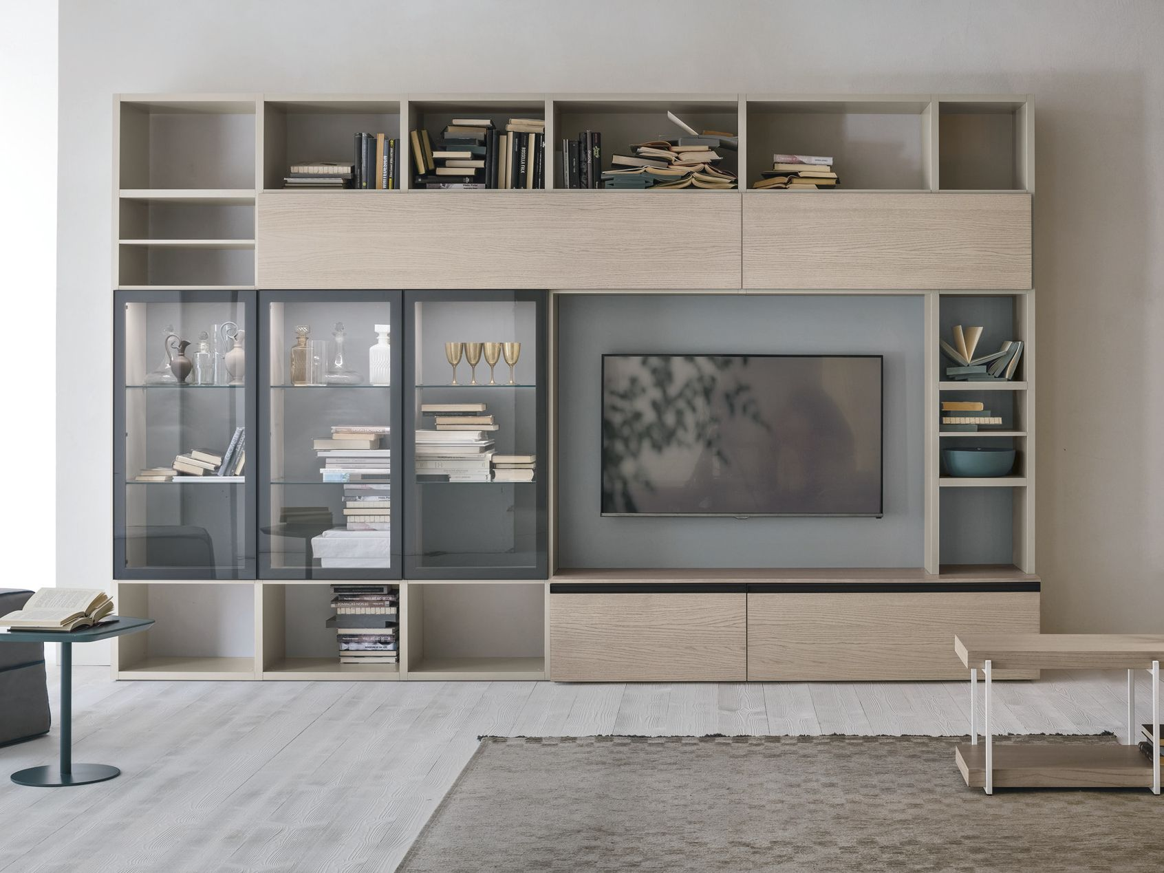 Sectional Storage Wall Unit A116 By Gruppo Tomasella Living Room Wall Units Wall Unit Wall Storage Unit