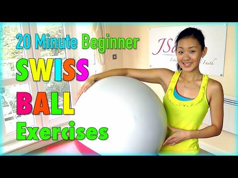 (10) 20 Minute Beginner Stability Swiss Ball Exercises