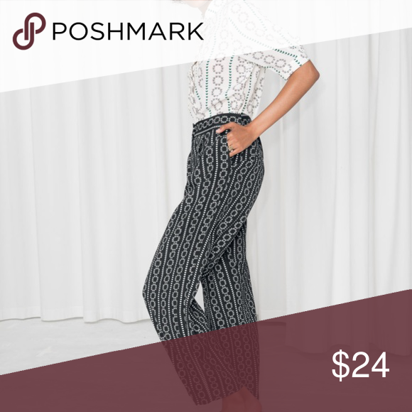 Other Stories Black And White Wide Leg Trouser White Wide Leg Trousers Wide Leg Trousers Clothes Design