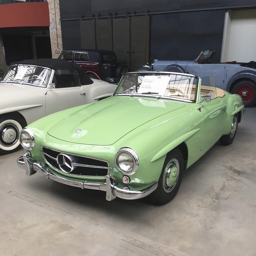 Green Mercedes Benz #190SL. Pic via instagram / #190SLRestorations  #bruceadams190SL | Dream cars, Palm beach, Mercedes benz