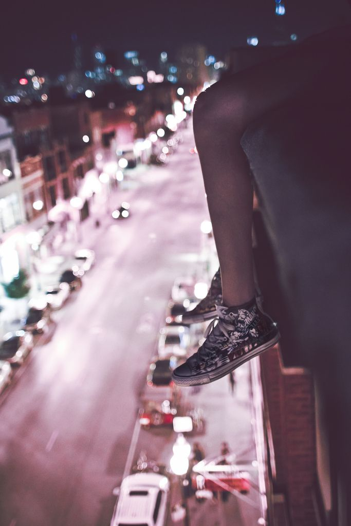 On the edge of the cities nightlife