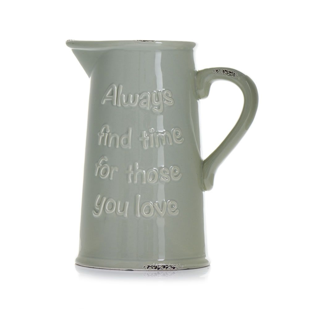 Wilko Words Ceramic Jug | Wilko, Ceramic jug, Homemade decor