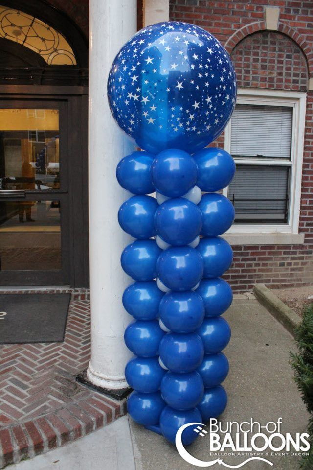Square Pack Balloon Columns With 3 Topper Balloon