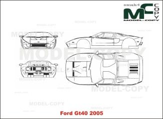 Ford Gt40 2005 2d Drawing Blueprints With Images Ford Gt40 Ford Gt 2005 Gt40
