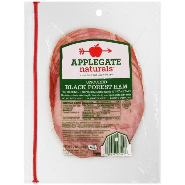 Applegate Uncured Black Forest Ham ❤ Liked On Polyvore Featuring Home, Home  Decor, Black