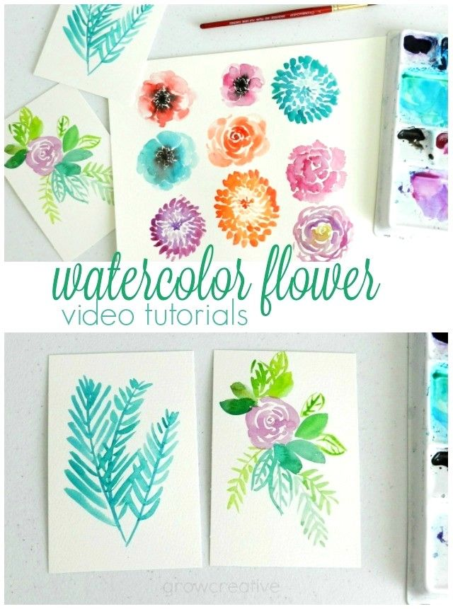 All Things Floral Watercolor Flowers Watercolor Video